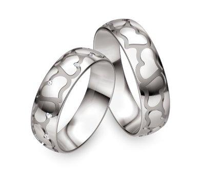 Mooye trouwringen in palladium 950 per paar