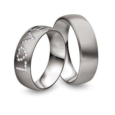 Mooye trouwringen in palladium 950 wit met diamant(en)