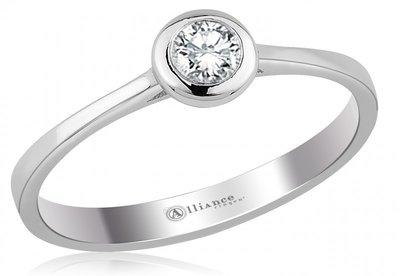 Mooye aanzoek - verlovingsring in 14 karaat 585 witgoud met diamant 0,05 ct