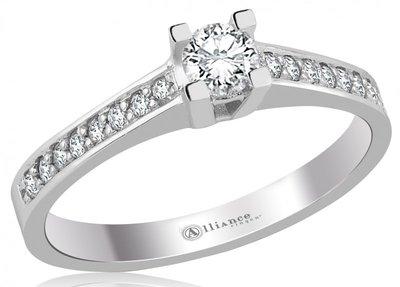 Mooye aanzoek - verlovingsring in 14 karaat 585 witgoud met diamanten 0,46 ct