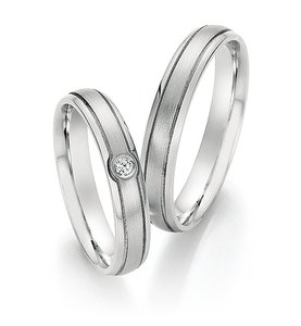 Mooye trouwringen in edelstaal per paar