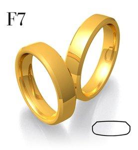 Mooye trouwringen in 14 karaat 585 geelgoud glad per paar