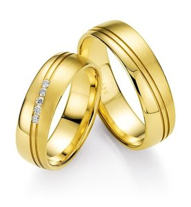 Mooye trouwringen in 8 karaat 333 geel per paar