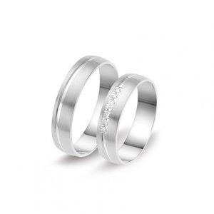 Mooye trouwringen in 8 karaat 333 met diamant per paar