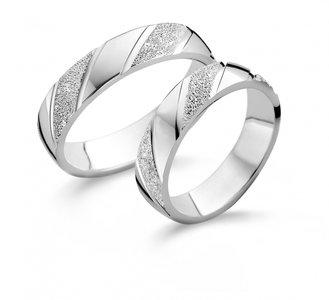 Mooye trouwringen in zilver per paar