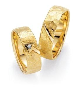 Mooye trouwringen in 18 karaat geelgoud per paar