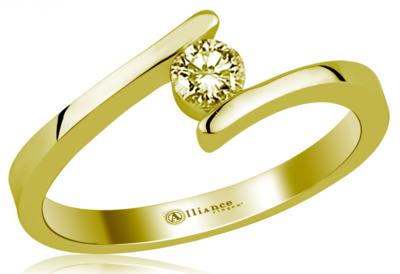 Mooye aanzoek - verlovingsring in 14 karaat 585 geelgoud met diamant 0,05 ct