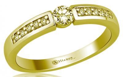 Mooye aanzoek - verlovingsring in 14 karaat 585 geelgoud met diamanten 0,29 ct