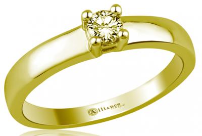 Mooye aanzoek - verlovingsring in 14 karaat 585 geelgoud met diamant 0,15 ct